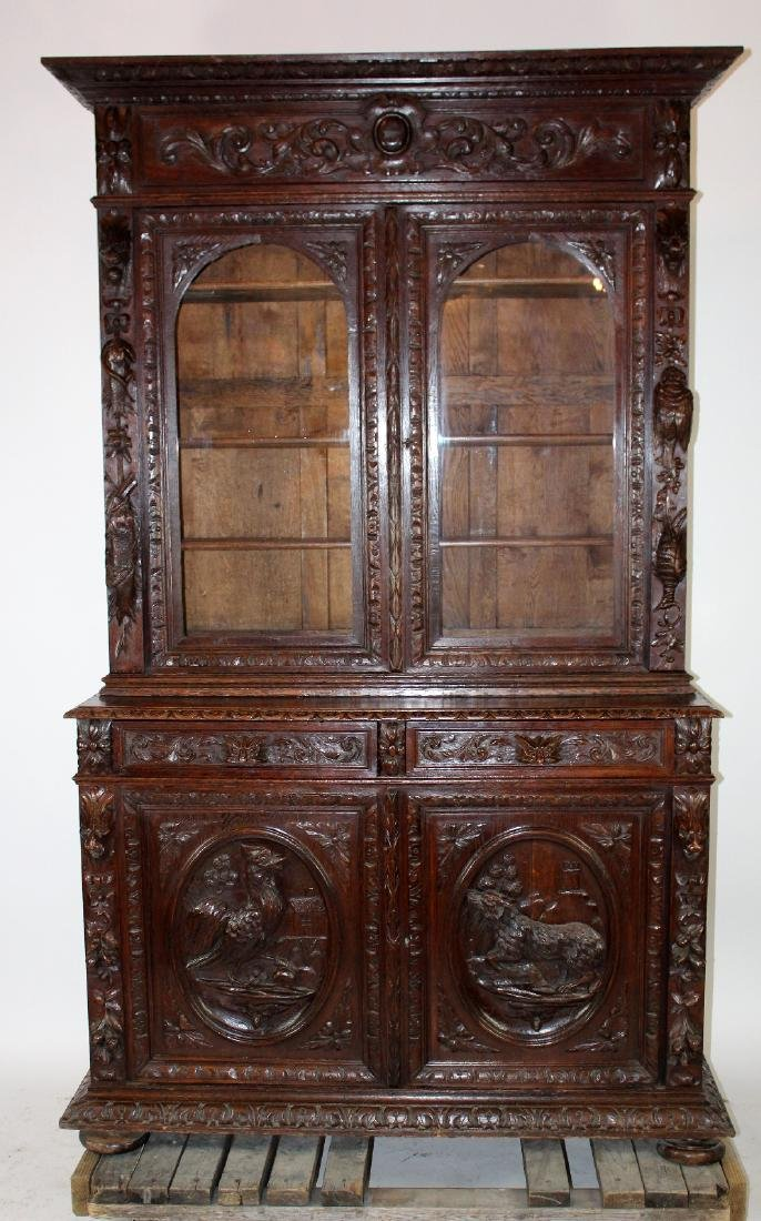 French Louis XIII carved buffet