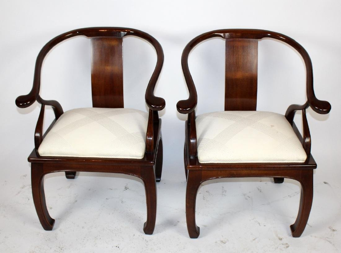 Pair of Bernhardt horseshoe back chairs