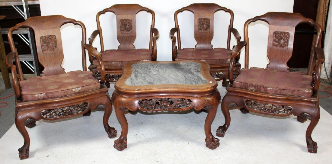 5 piece Chinese parlor set
