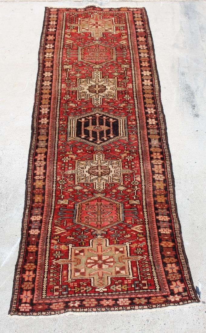 "3'4"" x 11'2"" Persian Karajer wool carpet"