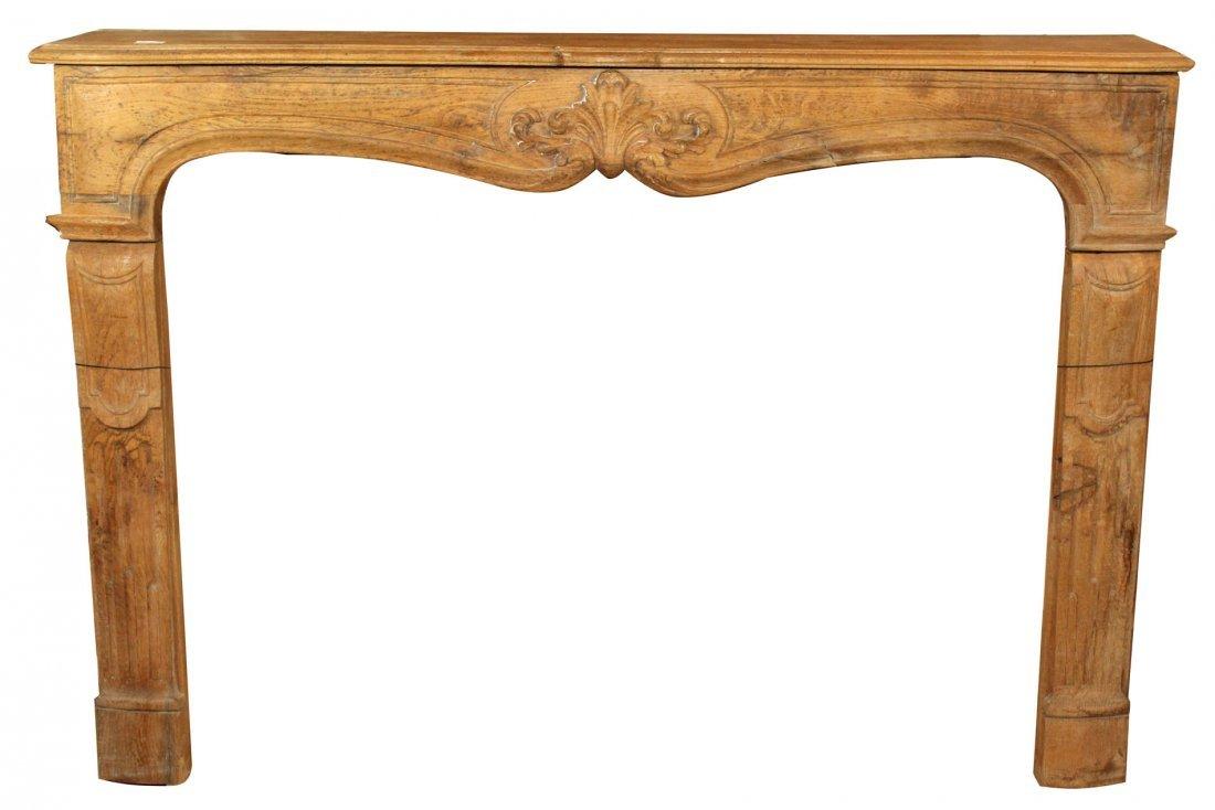 French Louis XV mantel in oak