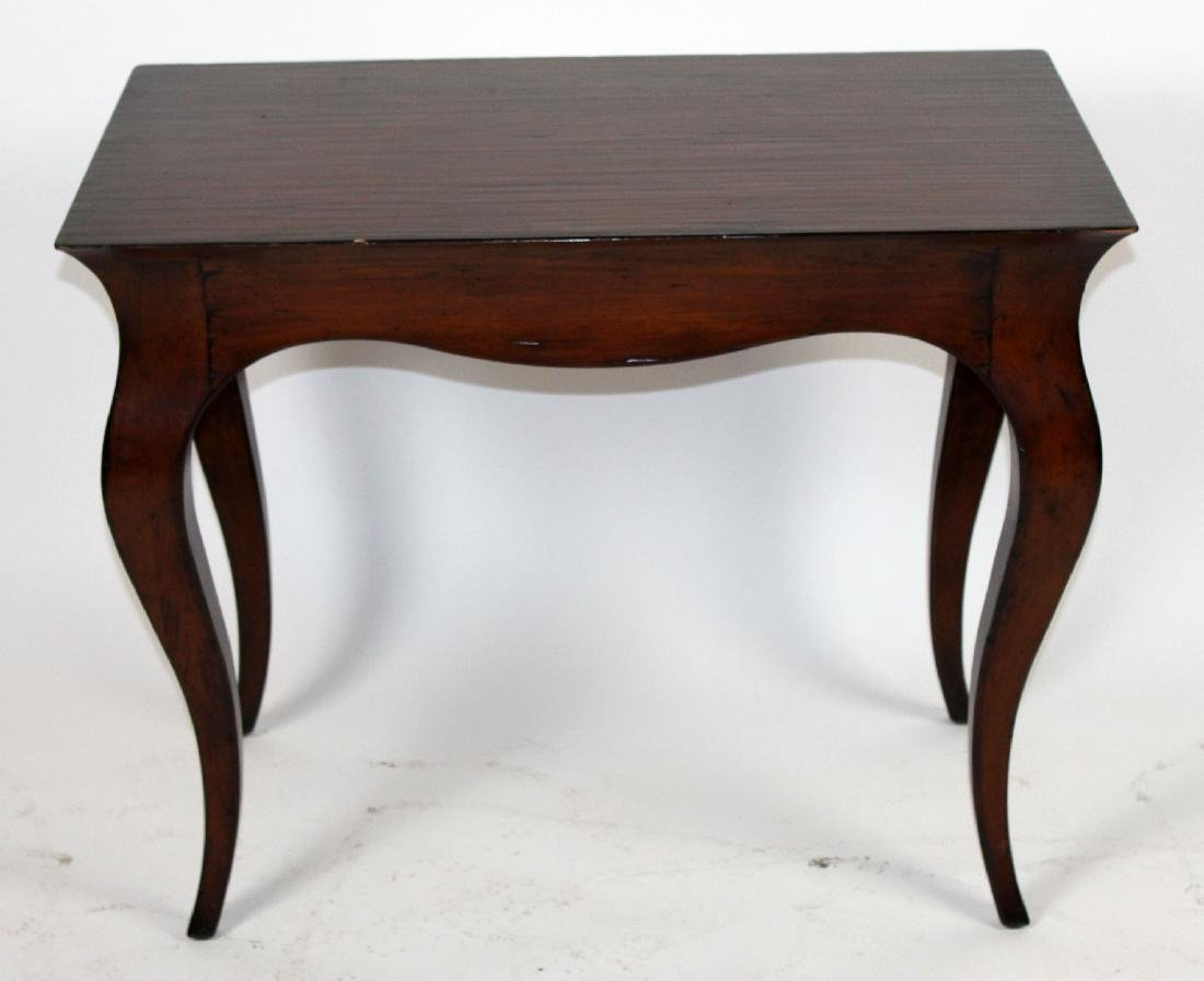 Mahogany cabriole leg writing desk