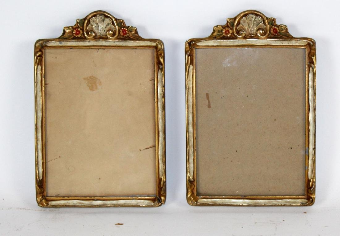 Pair of Italian painted frames