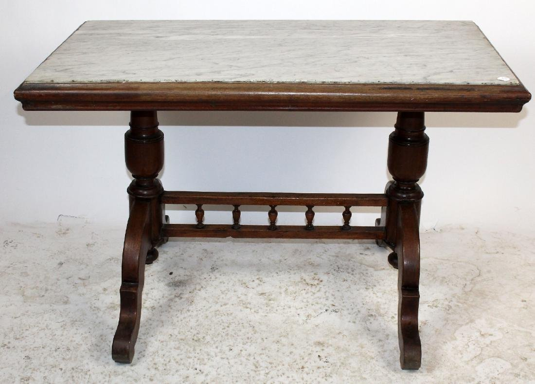 Marble top American  foyer table