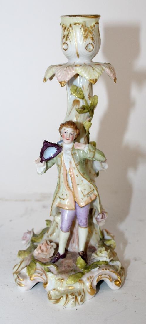Porcelain figural candle holder