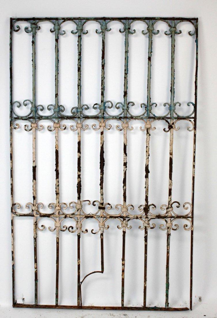 Scrolled iron panel