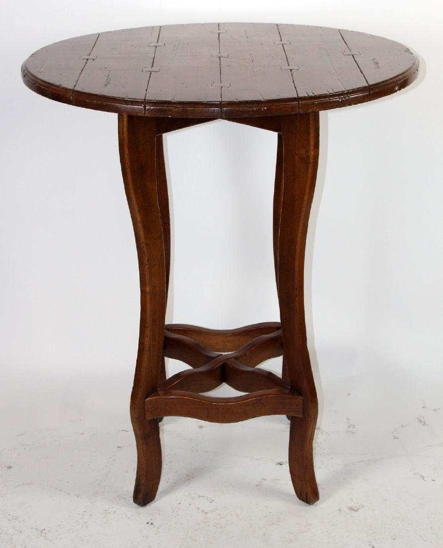 Round plank top pub table