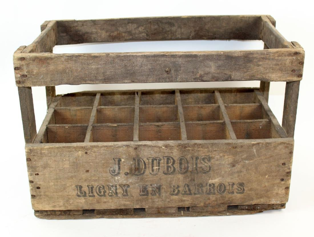 French vineyard bottle crate