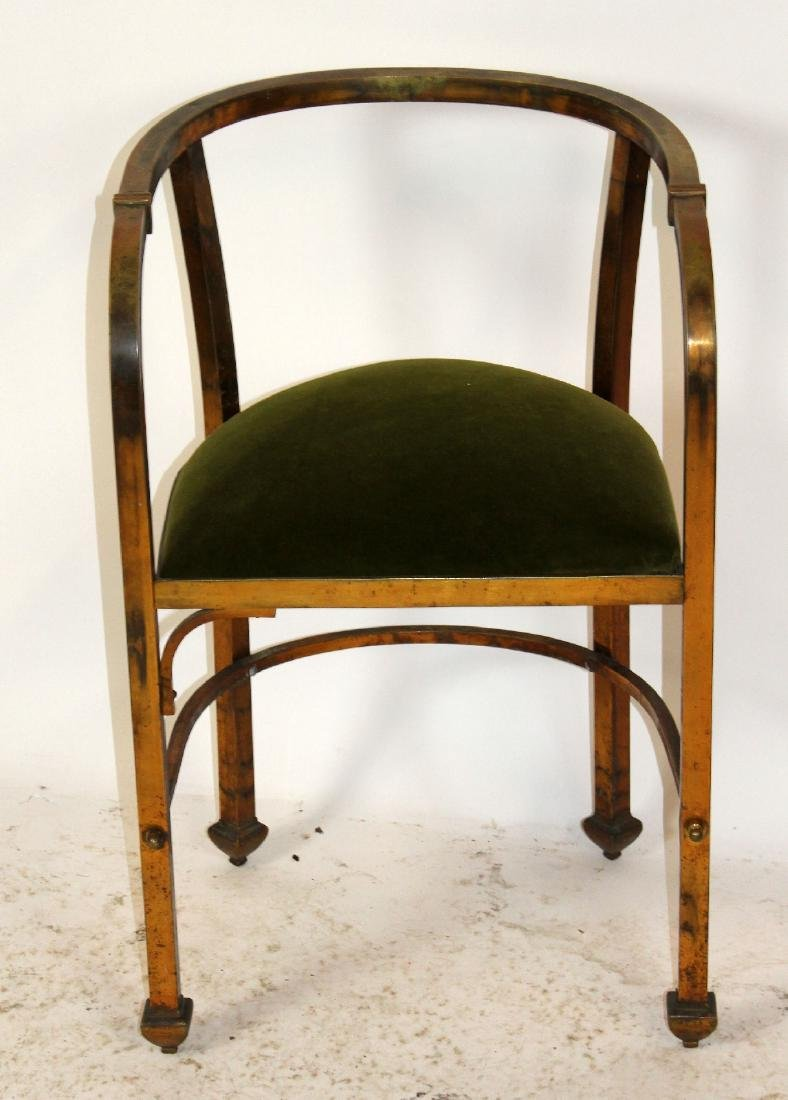 Mid century brass armchair