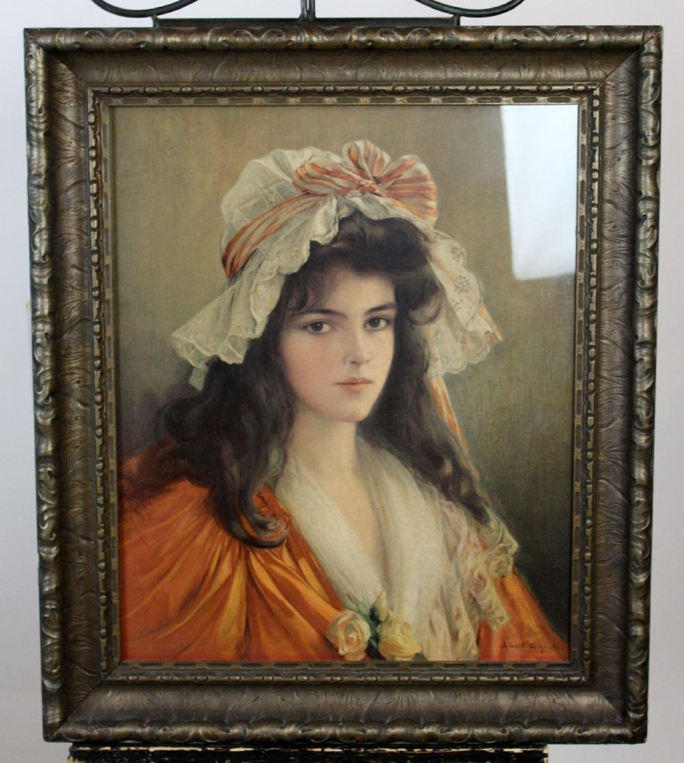 Framed print of young girl