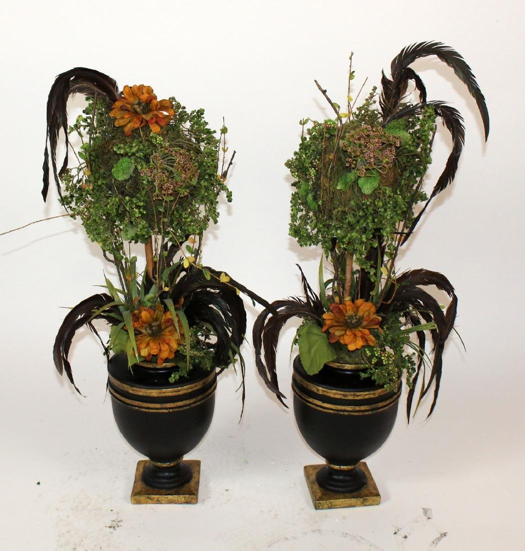 Pair of custom topiary centerpieces