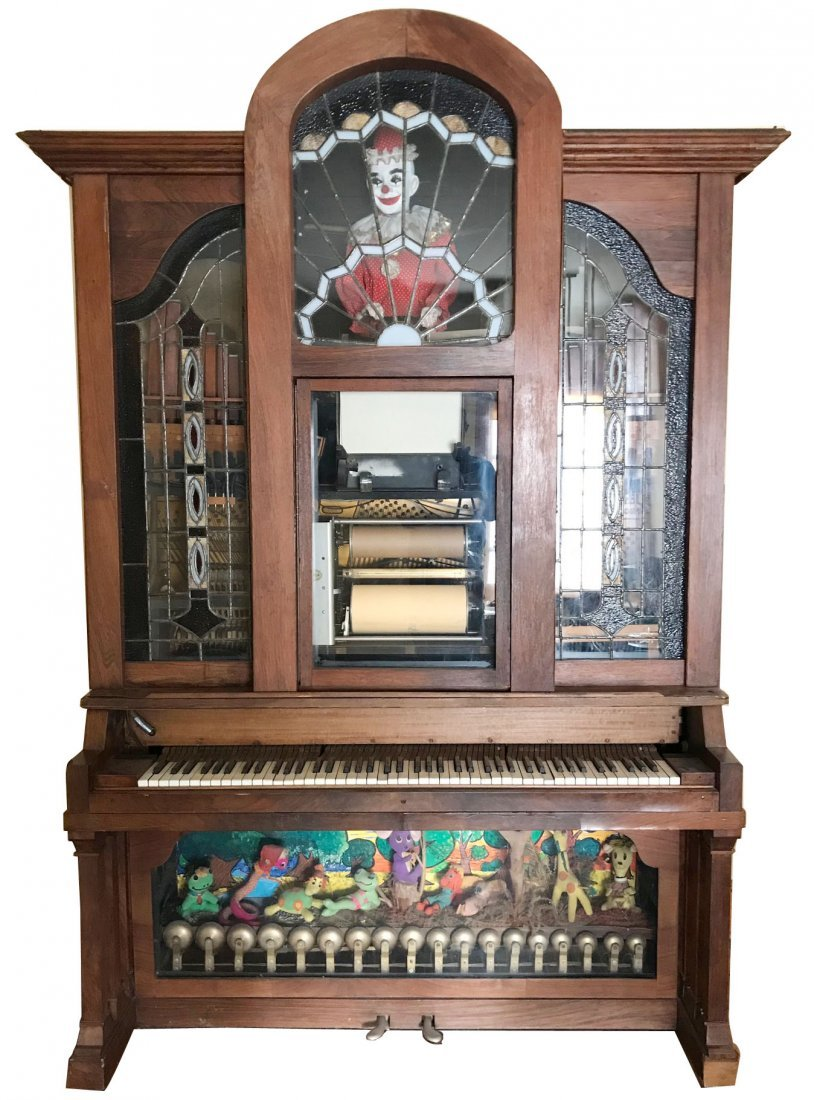 Hobart M Cable player piano Nickelodeon with automaton