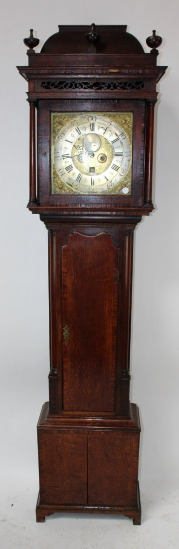 18th c English Jeremiah Standring tall case clock