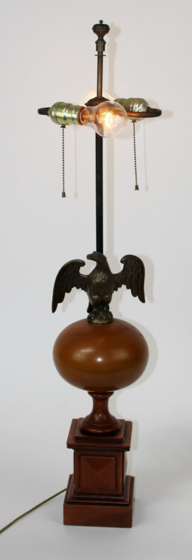 Federal style lamp with eagle