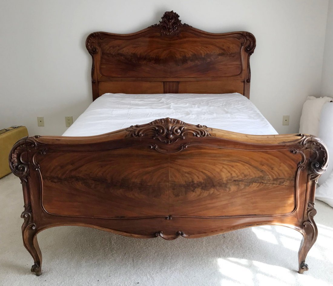 Queen French Louis XV bed