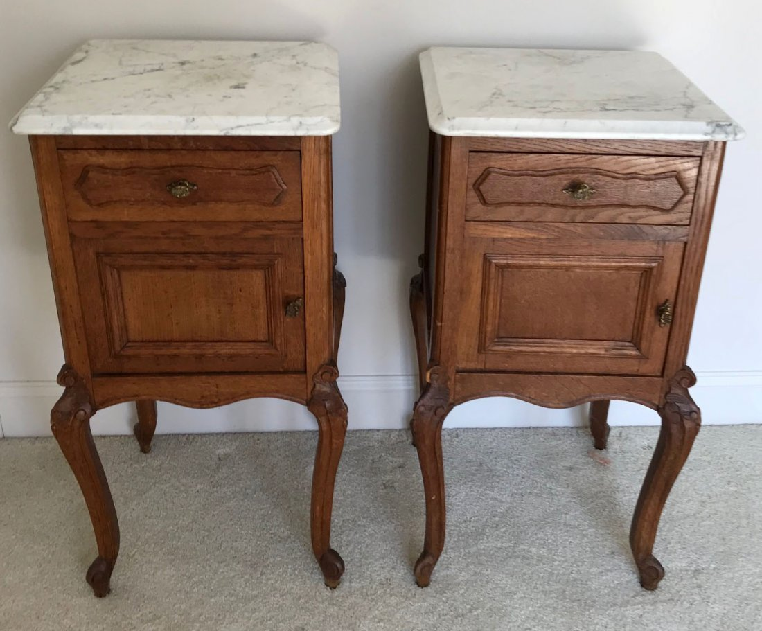 Pair of French Lpuis XV nightstands