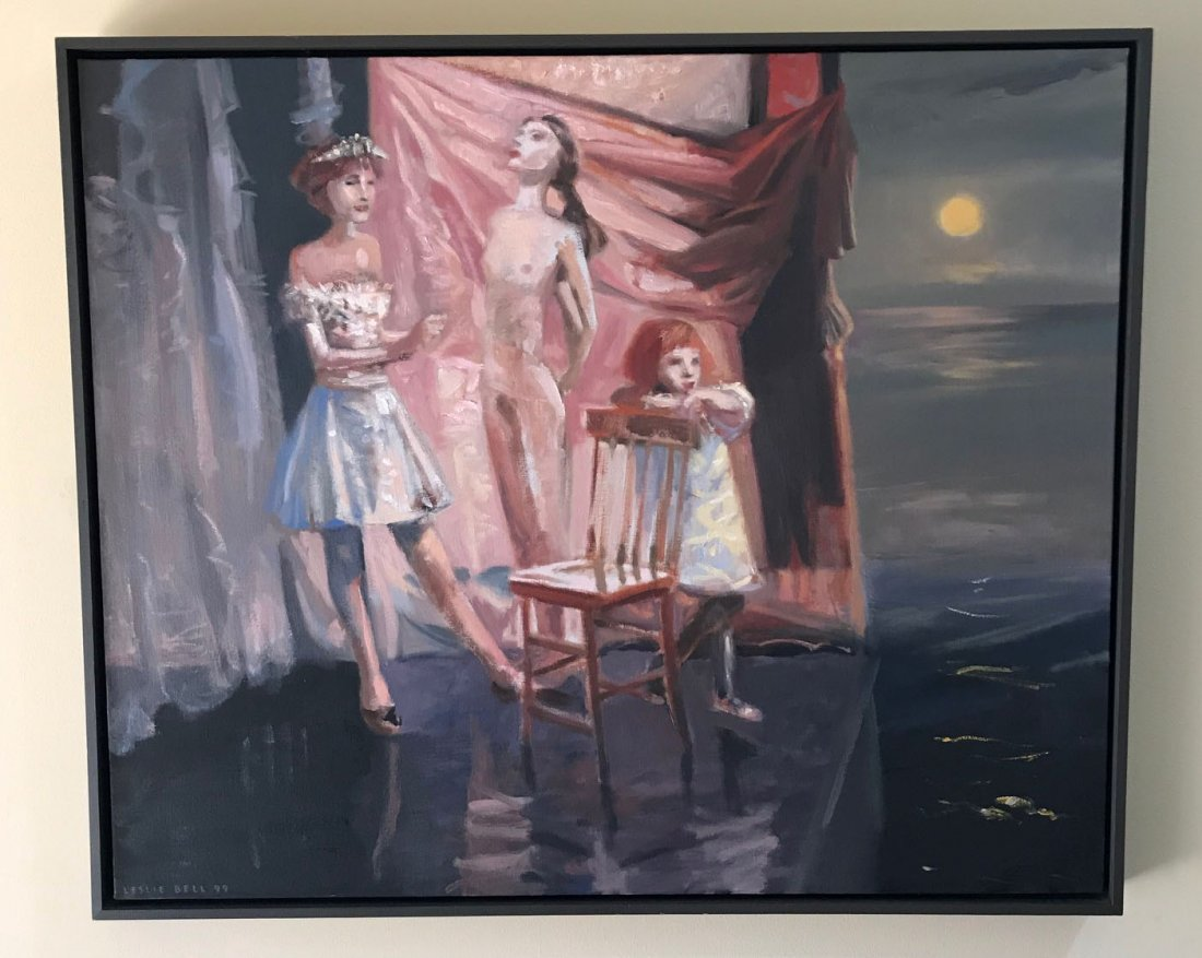 "Leslie Bell ""Sisters 1995 oil on canvas"