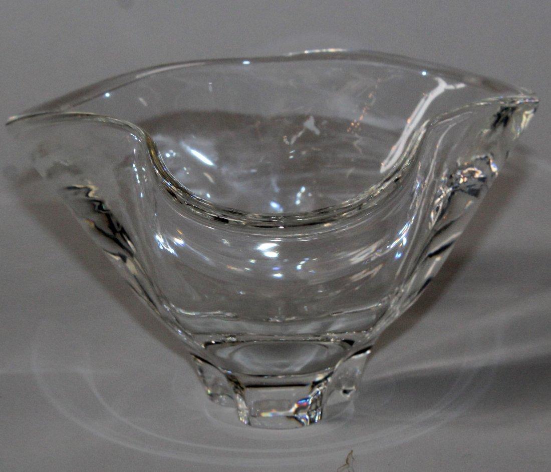 Steuben ruffle edge crystal bowl