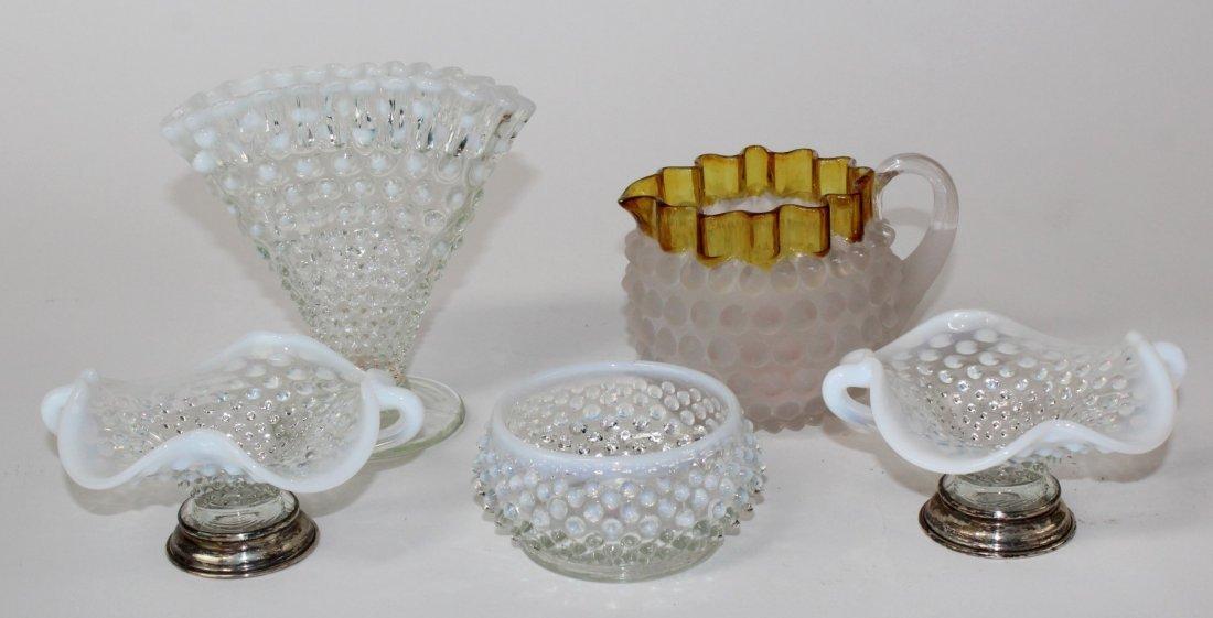 Lot of vintage hobnail glass