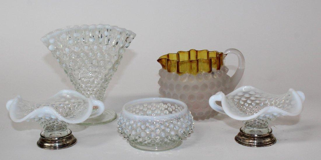 Lot of vintage hobnail glass - 2