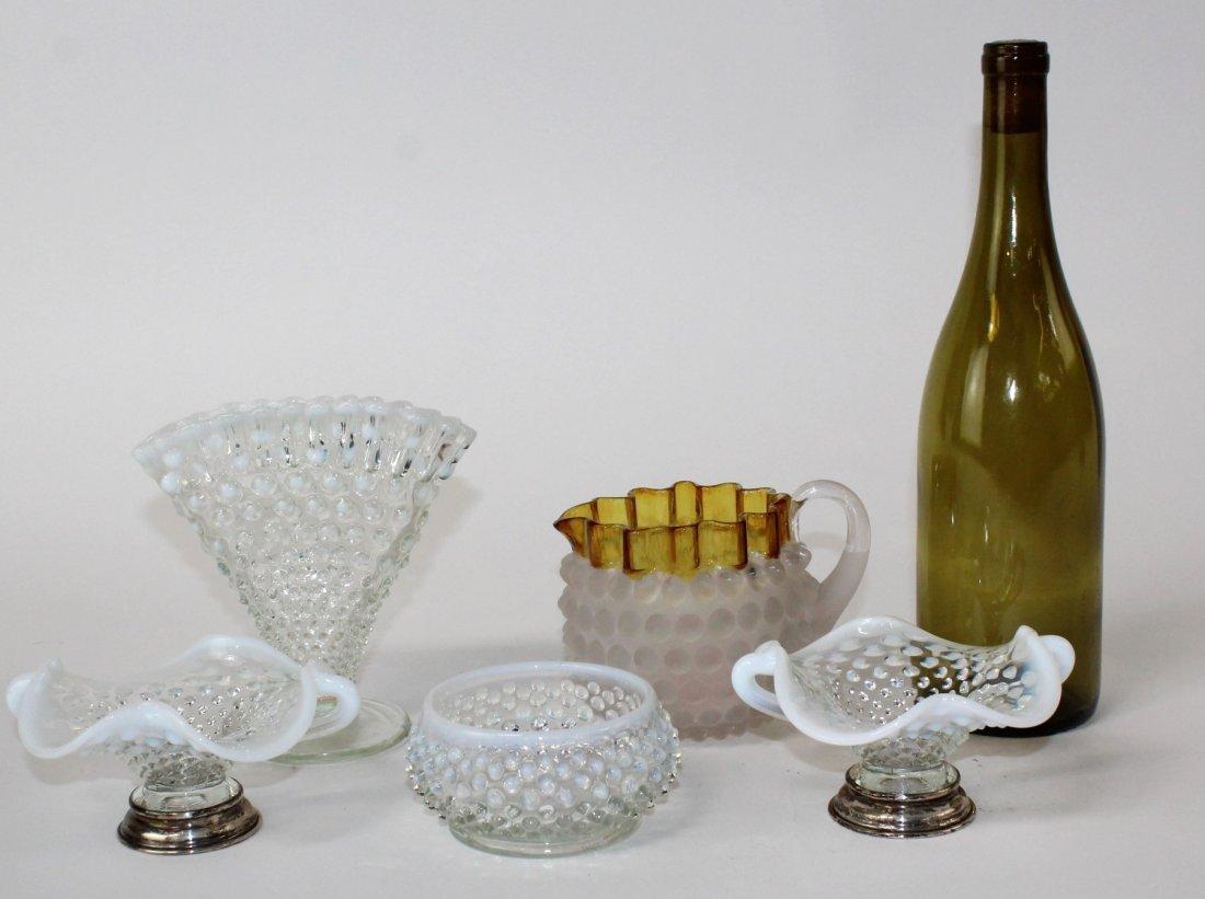Lot of vintage hobnail glass - 3