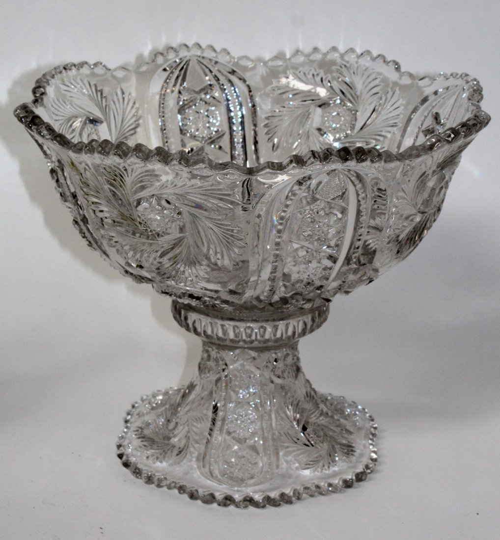 Pressed glass punch bowl