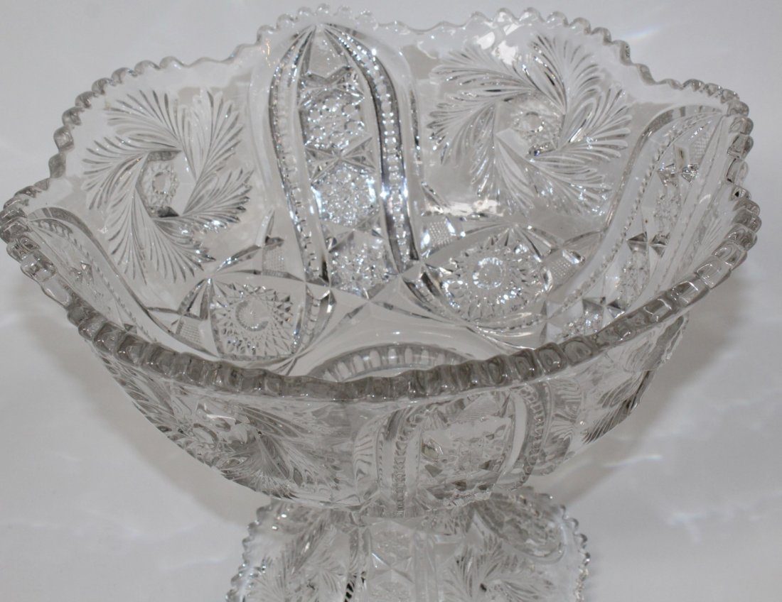 Pressed glass punch bowl - 3