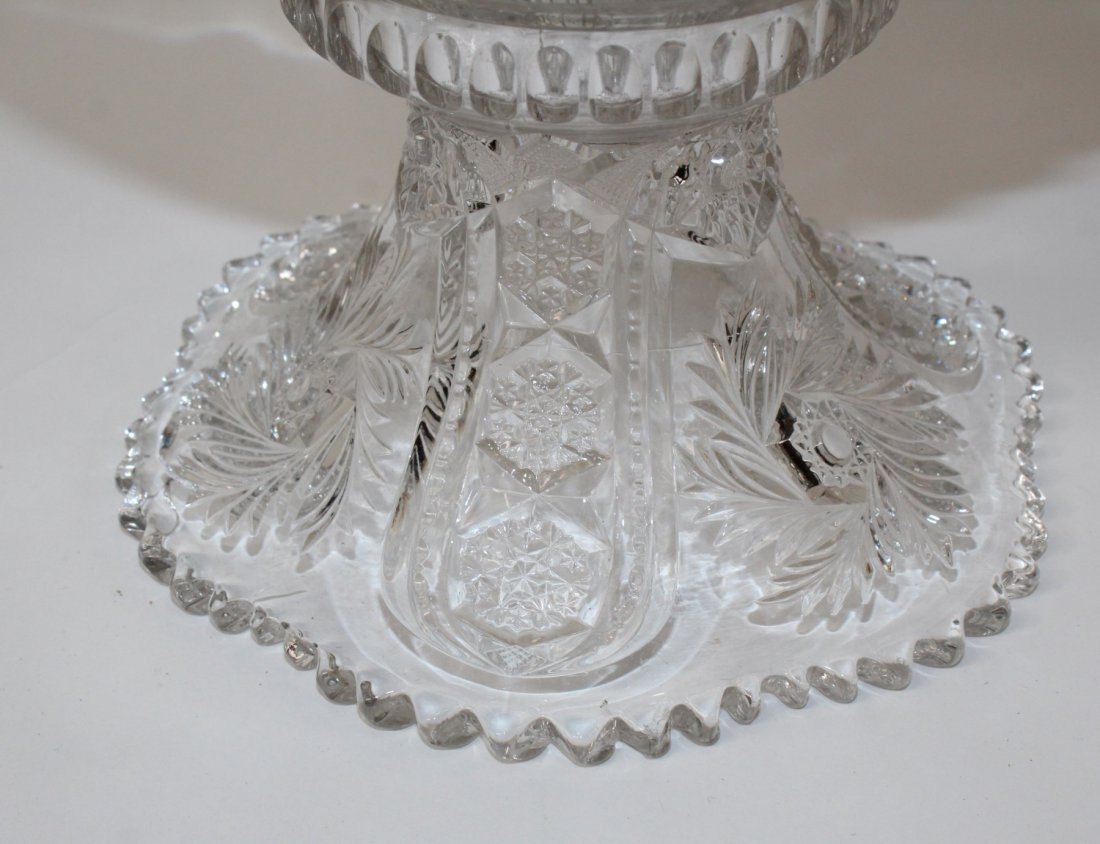 Pressed glass punch bowl - 4
