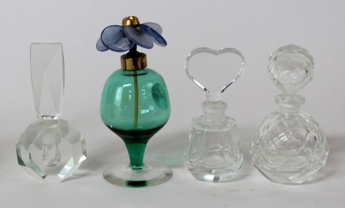 4 vintage perfume bottles