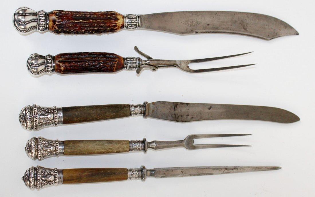 Antler handle carving set