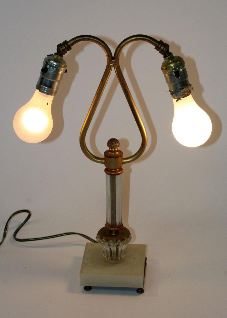 Art Nouveau style double lamp
