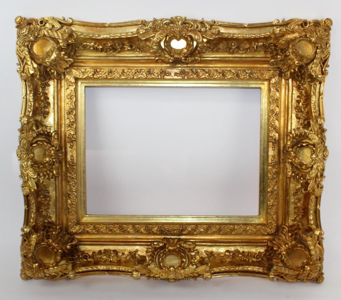 Gilt Rococo style frame
