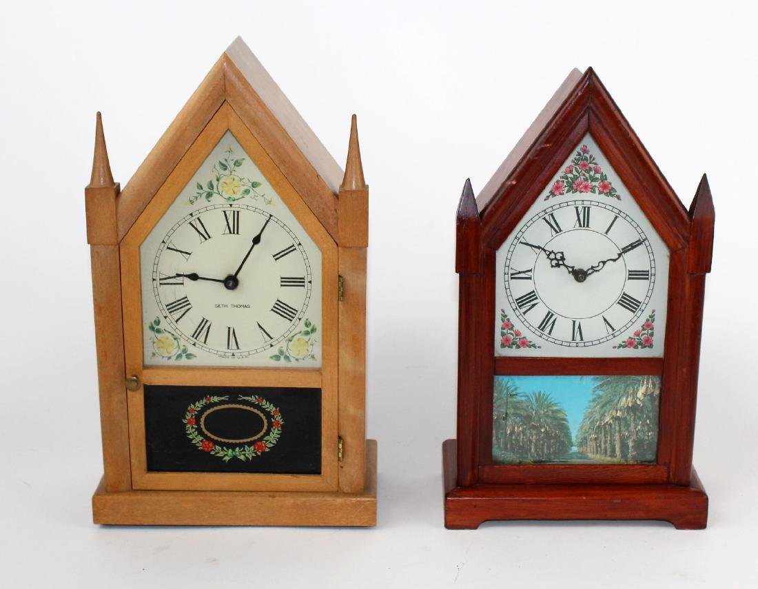 Lot of 2 vintage Steeple clocks