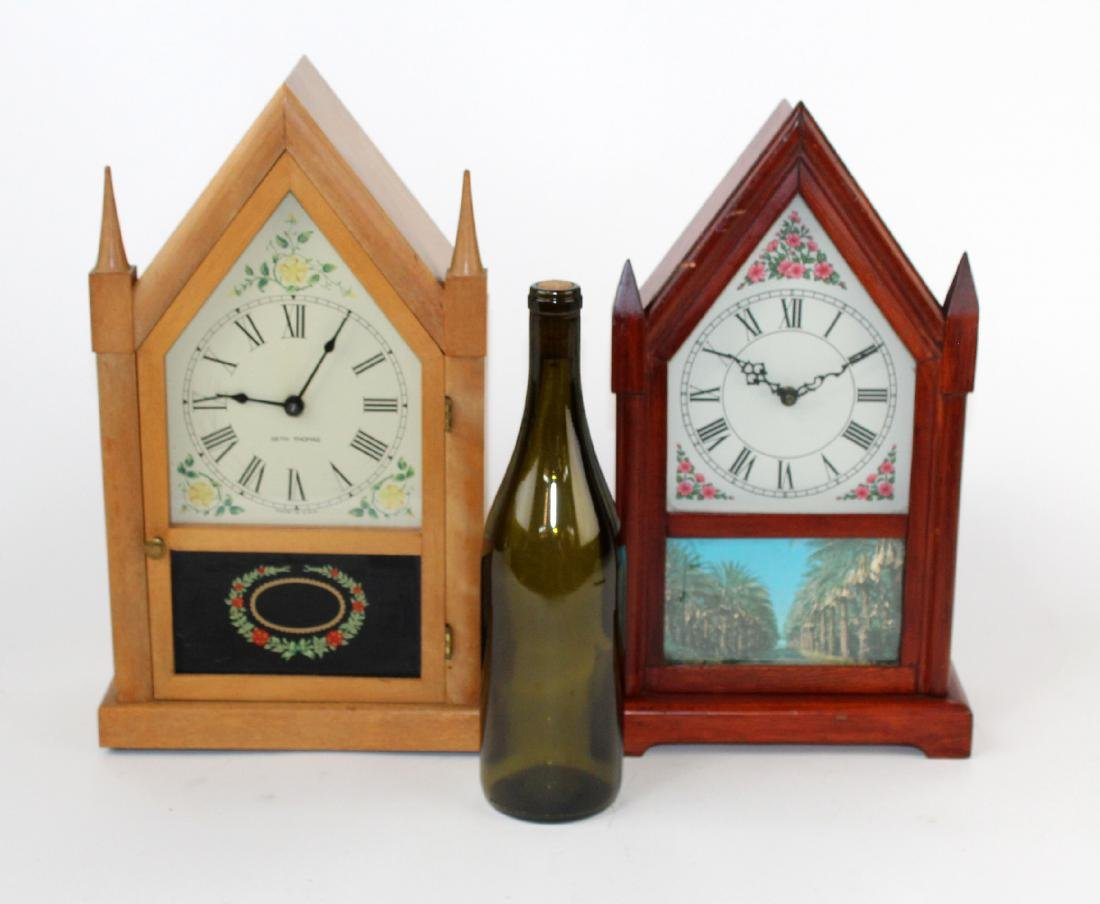 Lot of 2 vintage Steeple clocks - 2