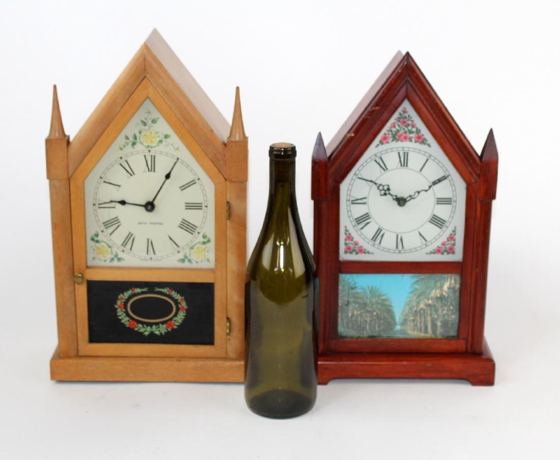 Lot of 2 vintage Steeple clocks - 2