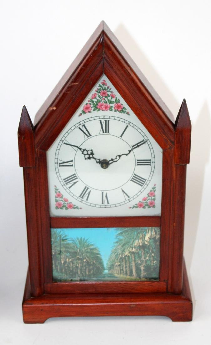 Lot of 2 vintage Steeple clocks - 4