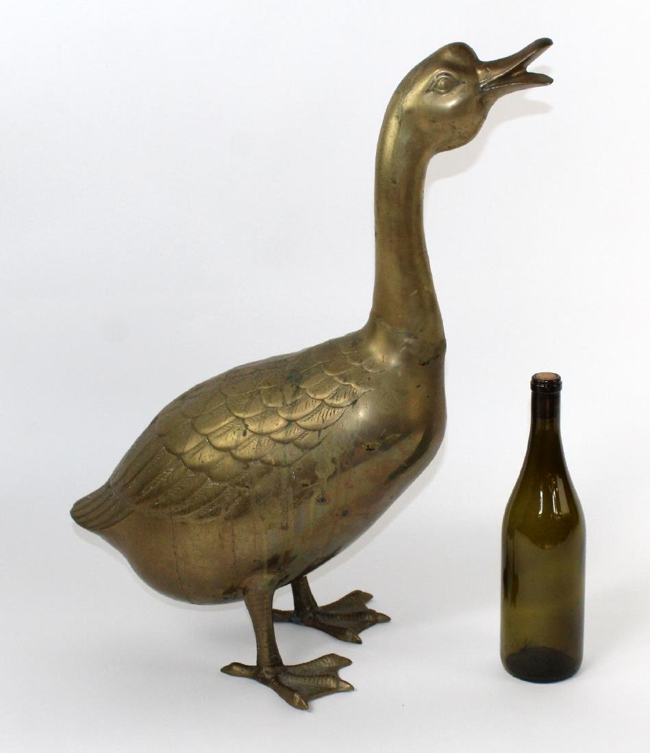Brass goose sculpture - 2