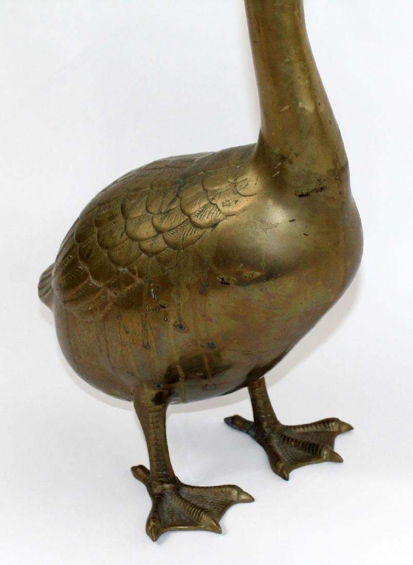 Brass goose sculpture - 3