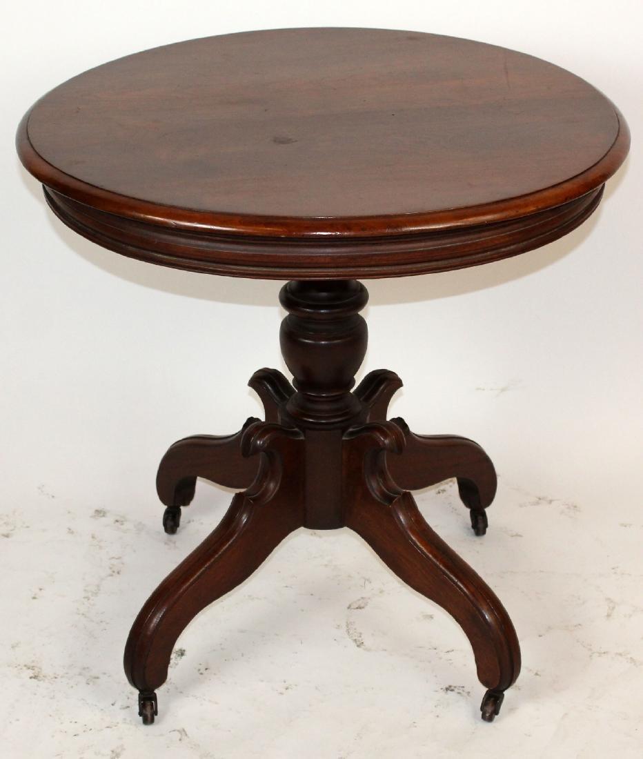 American Victorian mahogany parlor table