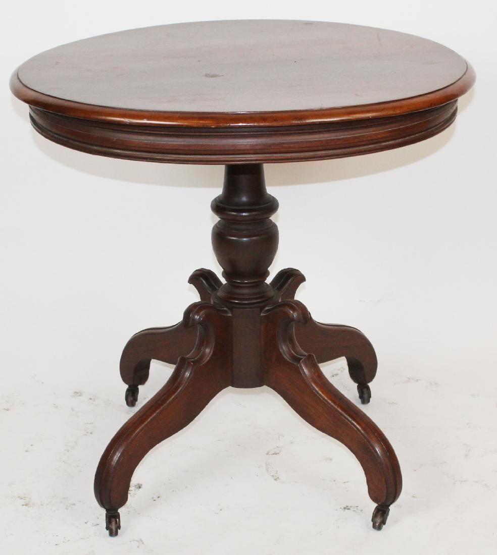 American Victorian mahogany parlor table - 3