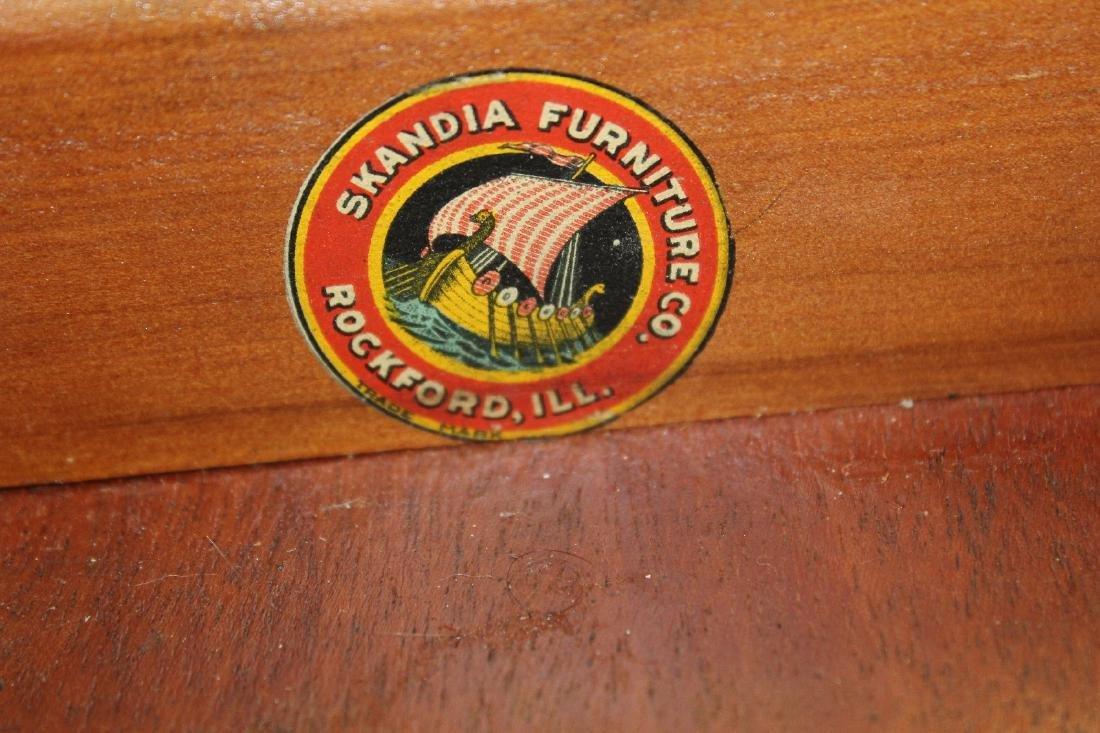 Vintage mahogany bureau bookcase with secretary - 2