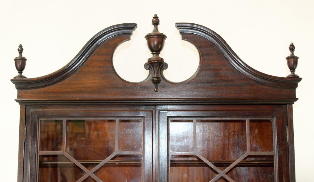 Vintage mahogany bureau bookcase with secretary - 4