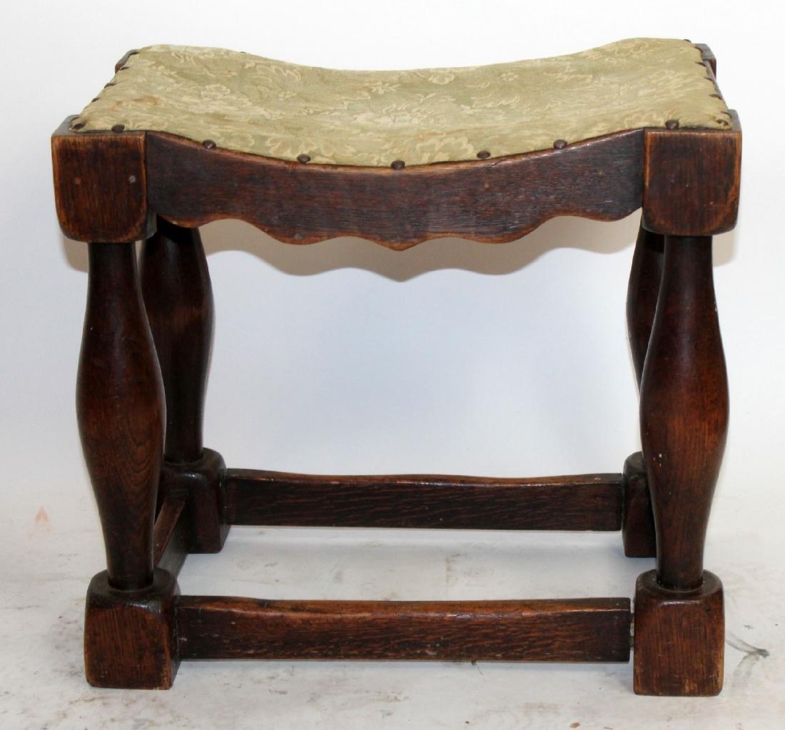 Provincial stool in walnut