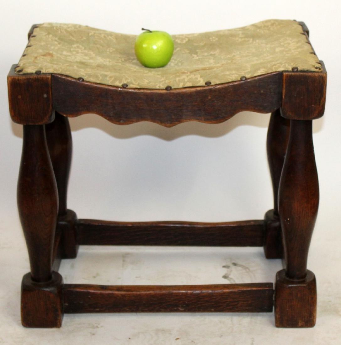 Provincial stool in walnut - 2