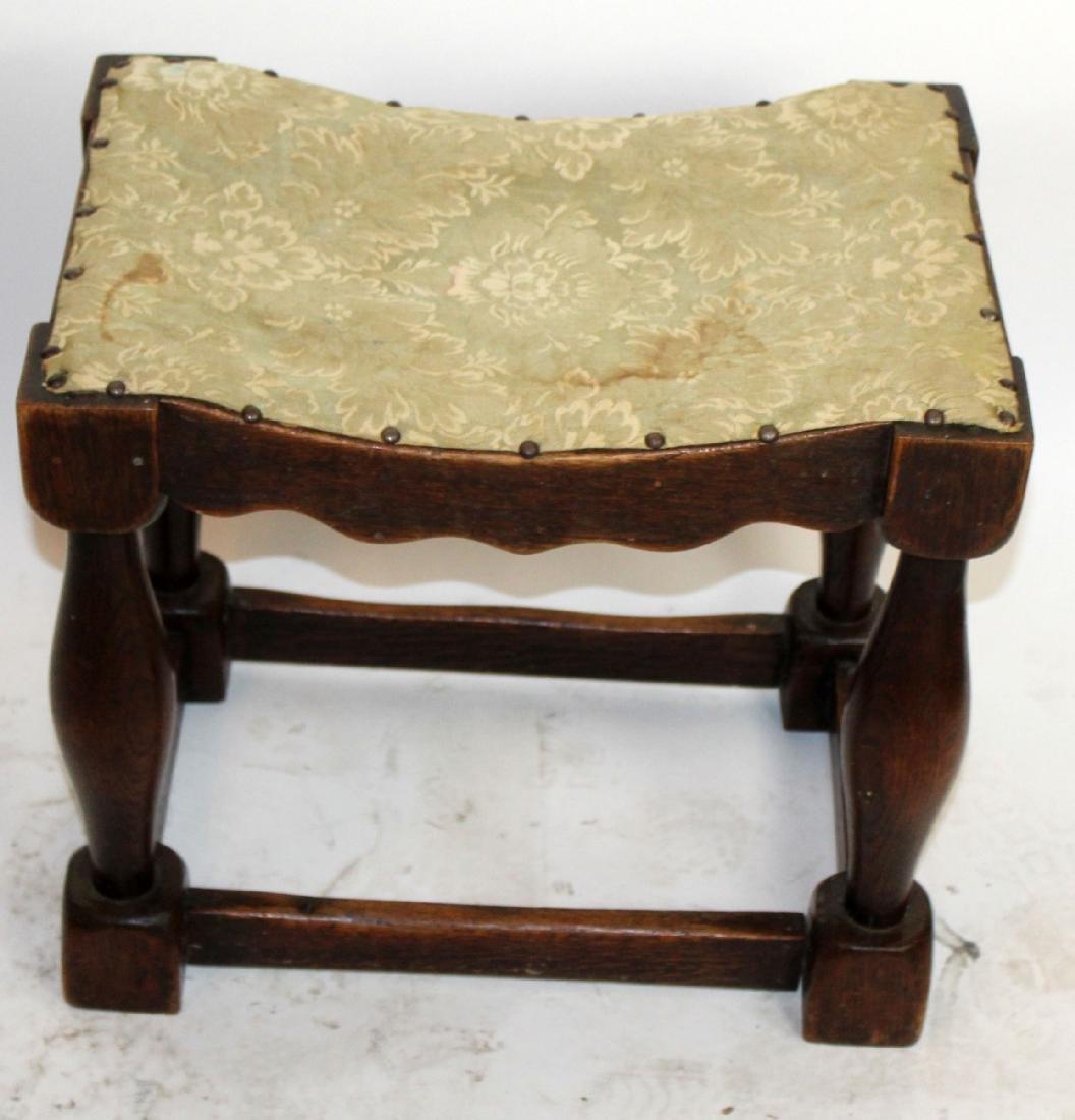 Provincial stool in walnut - 3
