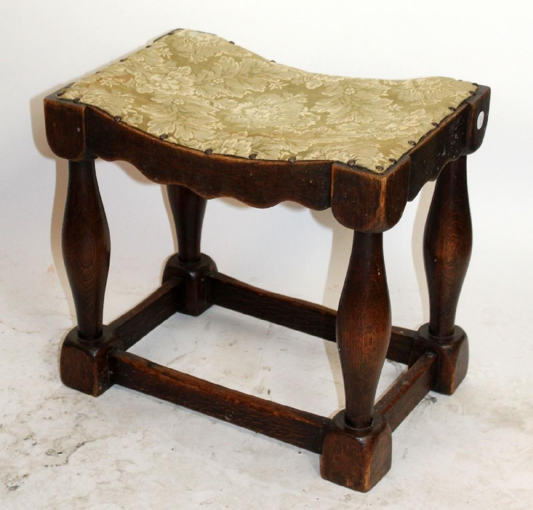 Provincial stool in walnut - 4