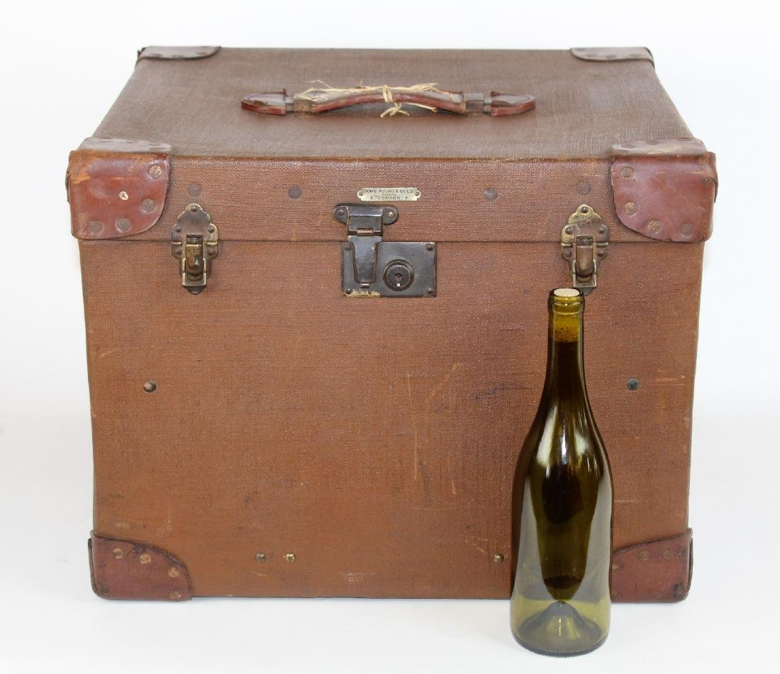 John Pound & Co Antique English canvas hat trunk - 4