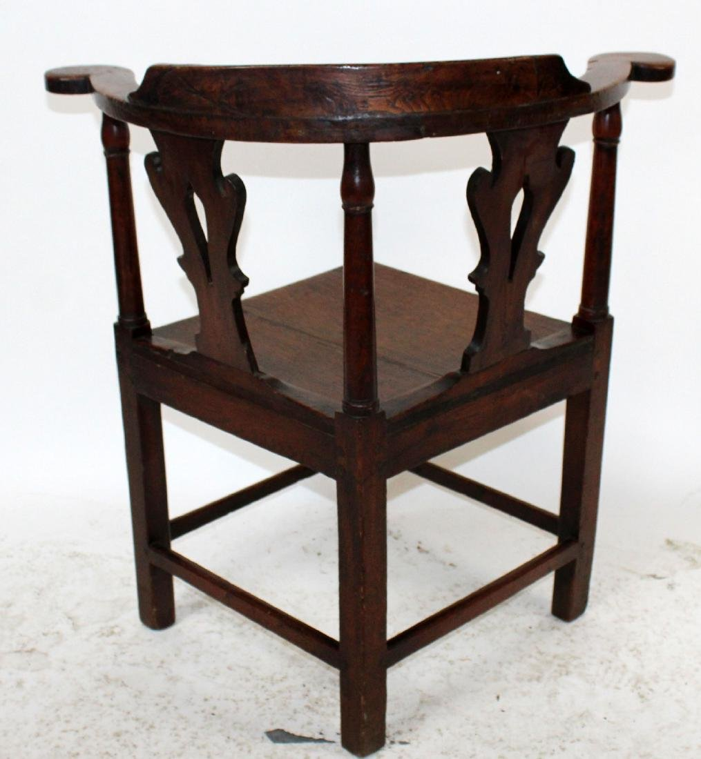 English Chippendale corner chair in oak - 2