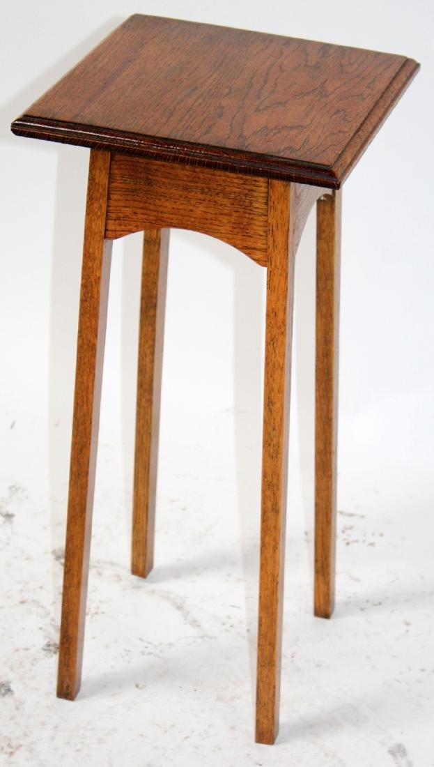 Oak mission style plant stand