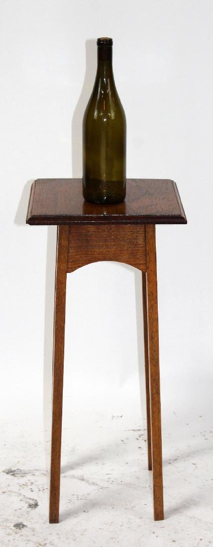 Oak mission style plant stand - 2
